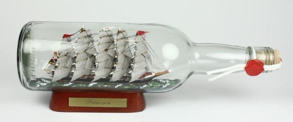 Preussen 700 ml runde Flasche Buddelschiff Flaschenschiff