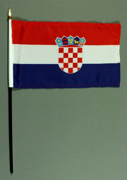 Tischflagge Kroatien 15x25 cm BASIC optional mit Tischflaggenständer