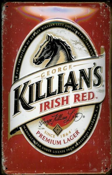 Blechschild Killians Lager Beer Irish red Pferd Bier Schild Nostalgieschild