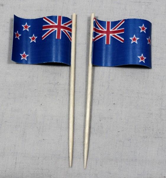 Party-Picker Flagge Neuseeland Papierfähnchen in Spitzenqualität 50 Stück Beutel