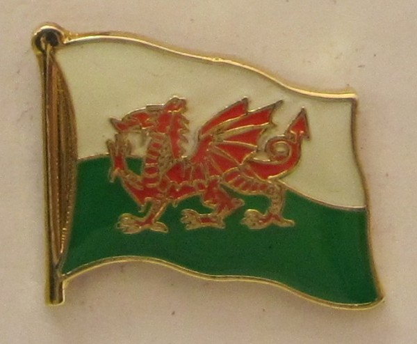 Pin Anstecker Flagge Fahne Wales