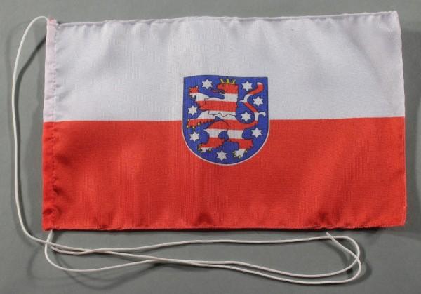 Tischflagge Thüringen 25x15 cm optional mit Holz- oder Chromständer Tischfahne Tischfähnchen