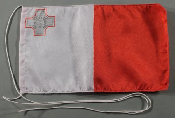 Tischflagge Malta 25x15 cm optional mit Holz- oder Chromständer Tischfahne Tischfähnchen
