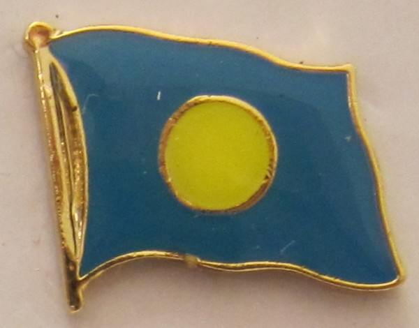 Palau Pin Anstecker Flagge Fahne Nationalflagge