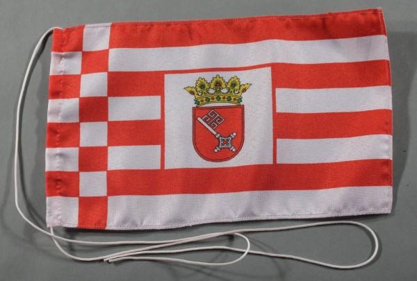 Tischflagge Bremen 25x15 cm optional mit Holz- oder Chromständer Tischfahne Tischfähnchen