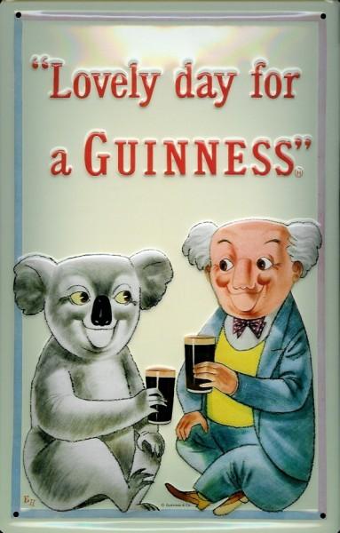 Blechschild Guinness Bier Koala Bär Australien Schild nostalgisches Werbeschild