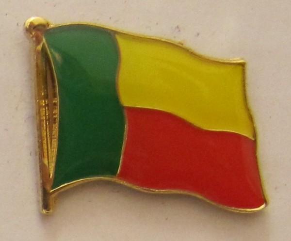 Benin Pin Anstecker Flagge Fahne Nationalflagge