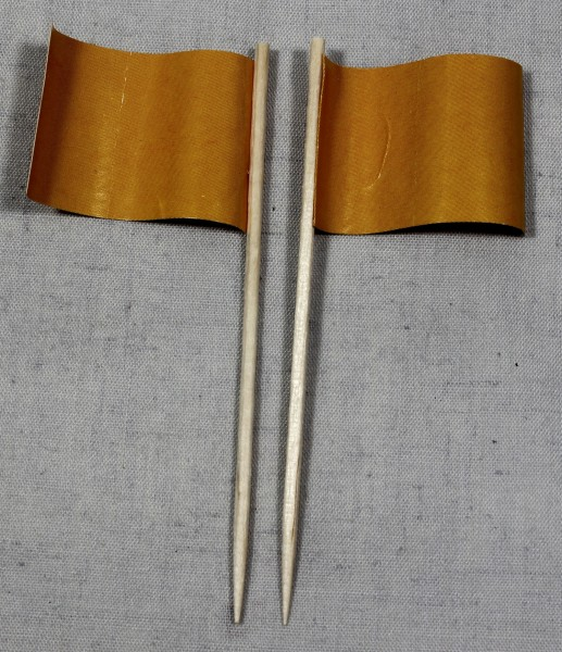 Party-Picker Flagge Uni Hellbraun Orange Papierfähnchen in Spitzenqualität 50 Stück Beutel