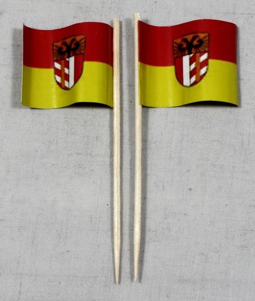 Party-Picker Flagge Schwaben Papierfähnchen in Spitzenqualität 50 Stück Beutel