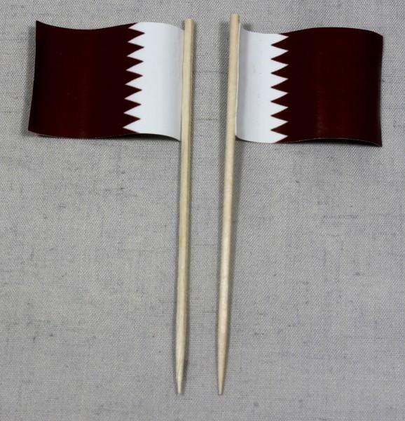 Party-Picker Flagge Katar Qatar Papierfähnchen in Spitzenqualität 50 Stück Beutel