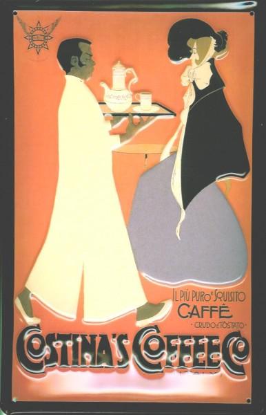 Blechschild Costina Coffee Kaffee retro Schild Nostalgieschild