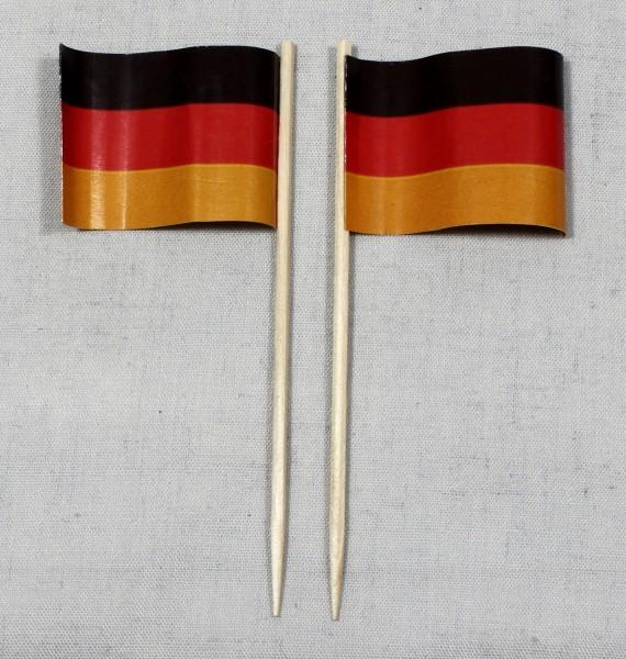 Party-Picker Flagge Deutschland Papierfähnchen in Spitzenqualität 50 Stück Beutel