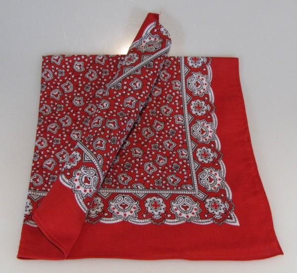 Vierecktuch Paisley 70x70 cm Halstuch rot von Modas