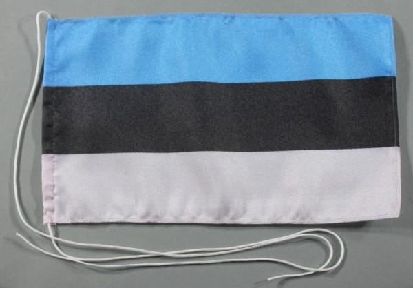 Tischflagge Estland 25x15 cm optional mit Holz- oder Chromständer Tischfahne Tischfähnchen