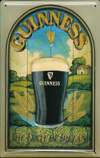 Blechschild Guinness Bier Taste of Ireland Beer Nostalgie Werbeschild Schild