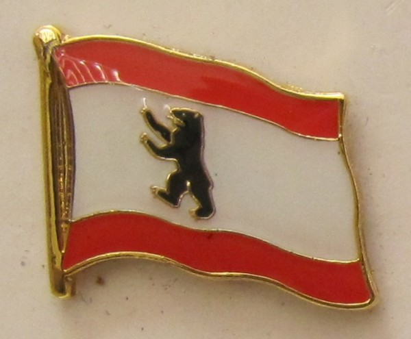 Pin Anstecker Flagge Fahne Berlin Bär Stadtflagge Flaggenpin Button Badge Flaggen Clip Anstecknadel