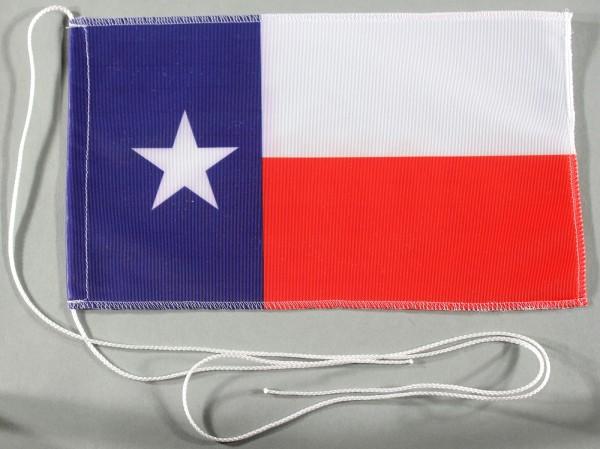 Tischflagge Texas USA Bundesstaat US State 25x15 cm optional mit Holz- oder Chromständer Tischfahne