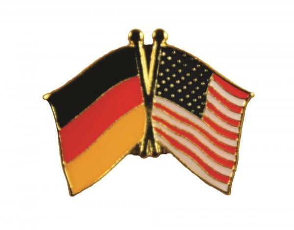 USA / Deutschland Freundschafts Pin Anstecker Flagge Fahne Nationalflagge