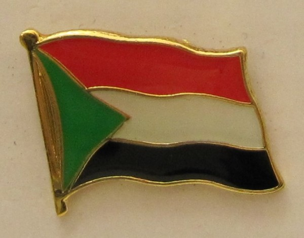 Sudan Pin Anstecker Flagge Fahne Nationalflagge