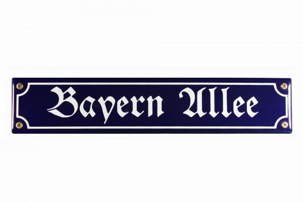Strassenschild Bayern Allee München 40x8 cm Email Strassen Schild Emaille