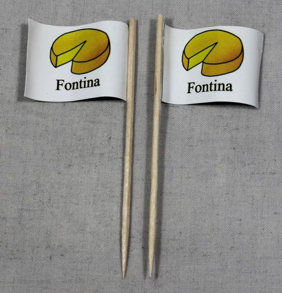 Party-Picker Flagge Fontina Käse Papierfähnchen in Spitzenqualität 50 Stück Beutel