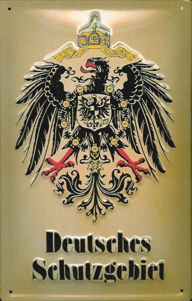 Blechschild Nostalgieschild Deutsches Schutzgebiet Adler Wappen
