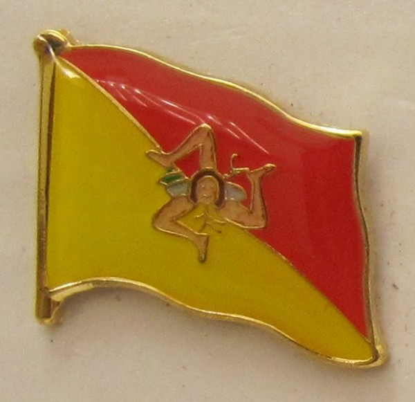 Pin Anstecker Flagge Fahne Sizilien Italien