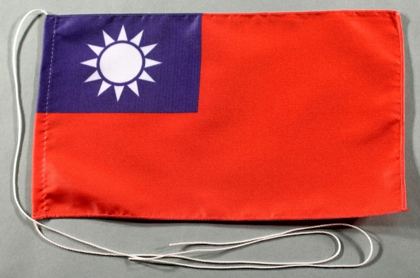 Tischflagge Taiwan 25x15 cm optional mit Holz- oder Chromständer Tischfahne Tischfähnchen