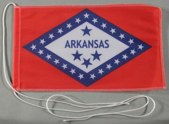 Tischflagge Arkansas USA Bundesstaat US State 25x15 cm optional mit Holz- oder Chromständer Tischfah
