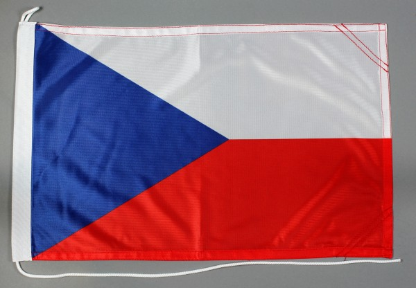 Bootsflagge Tschechien 30x45 cm Motorradflagge Bootsfahne