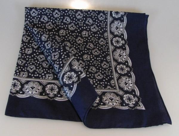 Vierecktuch Paisley 70x70 cm Halstuch blau