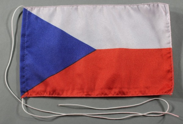 Tischflagge Tschechien 25x15 cm optional mit Holz- oder Chromständer Tischfahne Tischfähnchen