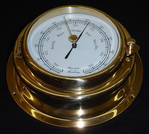 Schiffs Barometer 155 mm Messing schwer
