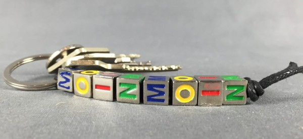 Schlüsselanhänger MOIN MOIN Würfel Kette bunt Mitbringsel Deko Souvenir