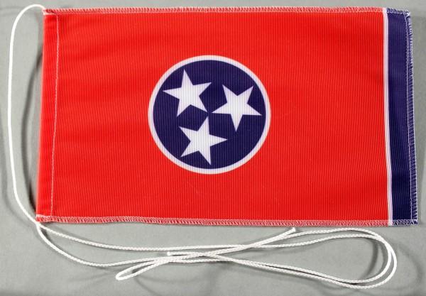 Tischflagge Tennessee USA Bundesstaat US State 25x15 cm optional mit Holz- oder Chromständer Tischfa