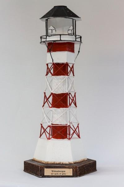 Blechleuchtturm Wittenbergen / Elbe 41 cm Leuchtturm Modell mit Teelichthalter