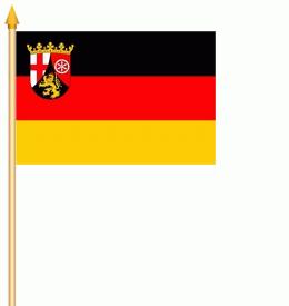 Stockflagge Rheinland-Pfalz 30x45cm