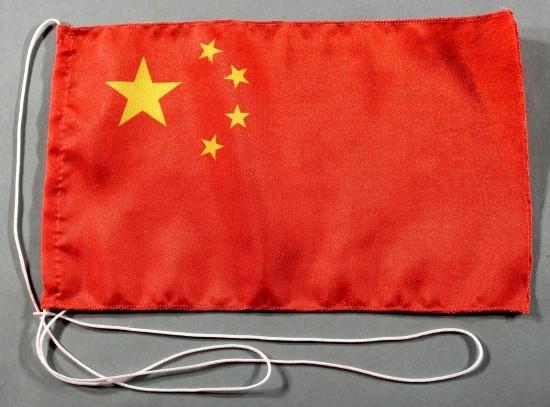 Tischflagge China 25x15 cm optional mit Holz- oder Chromständer Tischfahne Tischfähnchen