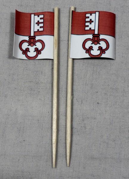 Party-Picker Flagge Obwalden Kanton Schweiz Papierfähnchen in Spitzenqualität 50 Stück Beutel