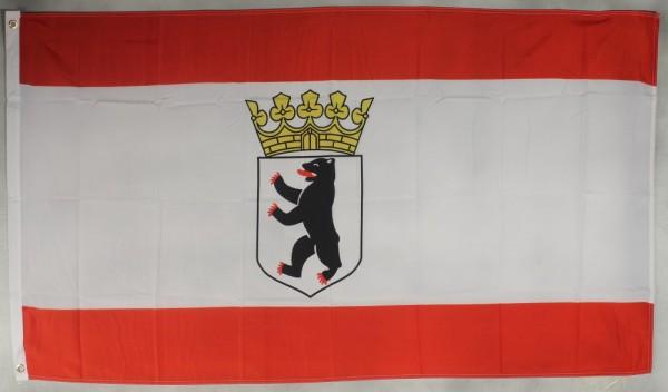 Flagge Fahne Berlin Bär mit Krone berliner Berlinflagge