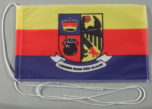 Tischflagge Nordfriesland Nord Friesland 25x15 cm optional mit Holz- oder Chromständer Tischfahne Ti