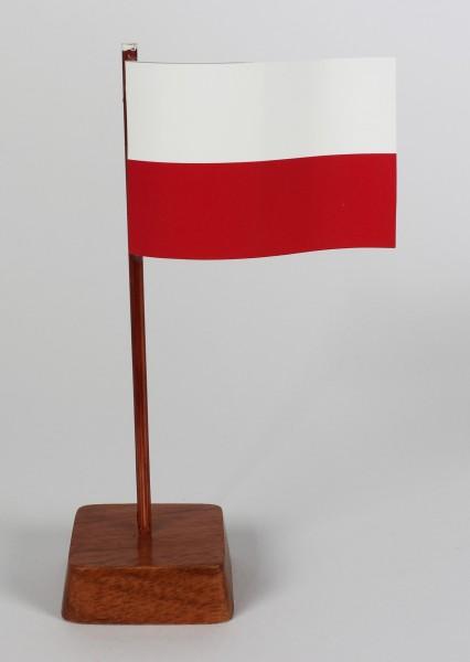 Mini Tischflagge Polen Höhe 13 cm Tischfähnchen