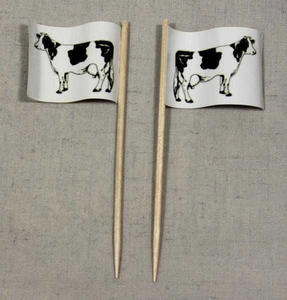 Party-Picker Flagge Rind Kuh Steak Rindfleisch Papierfähnchen in Spitzenqualität 50 Stück Beutel
