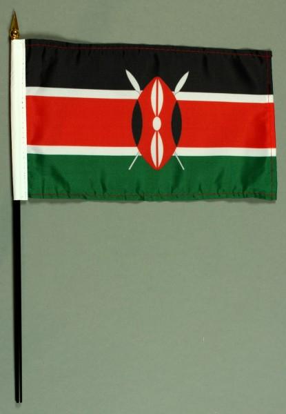 Tischflagge Kenia 15x25 cm BASIC optional mit Tischflaggenständer