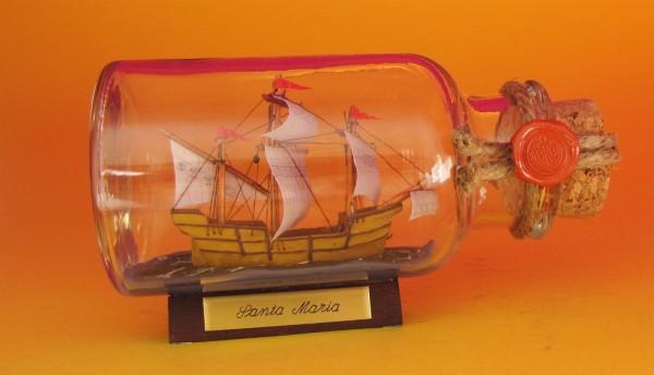 Santa Maria rundes Gewürzglas 0,25 Liter Buddelschiff Flaschenschiff