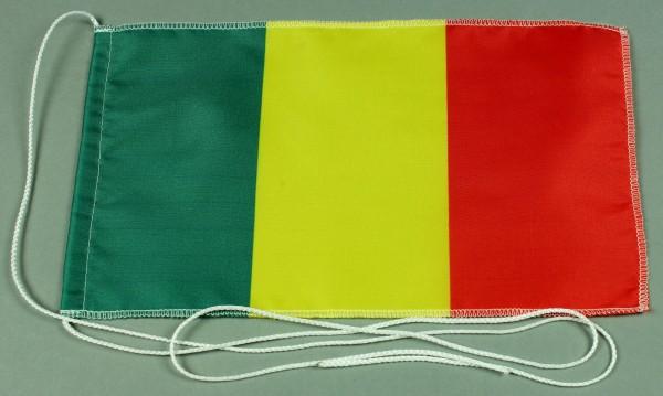 Tischflagge Mali 25x15 cm optional mit Holz- oder Chromständer Tischfahne Tischfähnchen