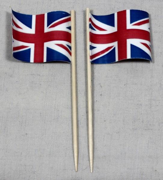 Party-Picker Flagge Grossbritannien Papierfähnchen in Spitzenqualität 50 Stück Beutel