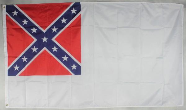 Flagge Fahne : 2nd Confederate USA Südstaaten Bürgerkrieg