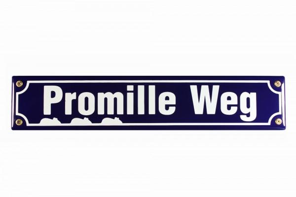 Strassenschild Promille Weg 40x8 cm Email Knipenschild Strassen Schild Emaille