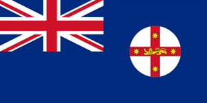 Flagge Fahne : New South Wales Nationalflagge Nationalfahne
